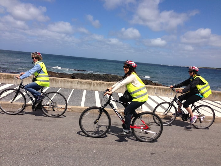 Enjoying the ride along the sea front -