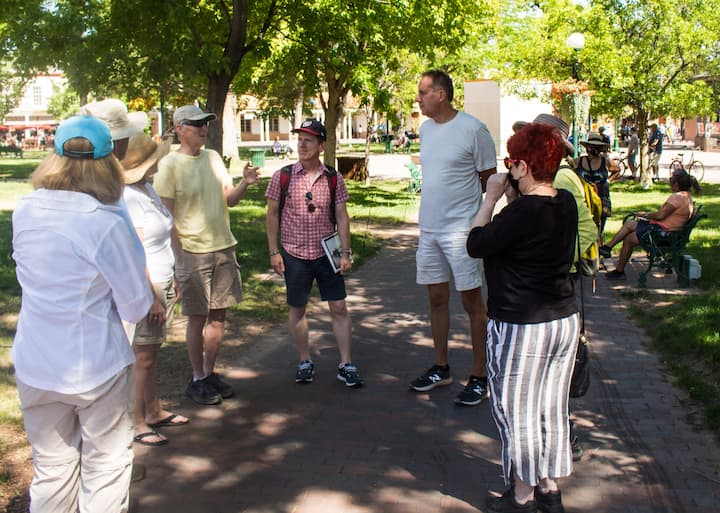 Discussing Cather's visits to Santa Fe