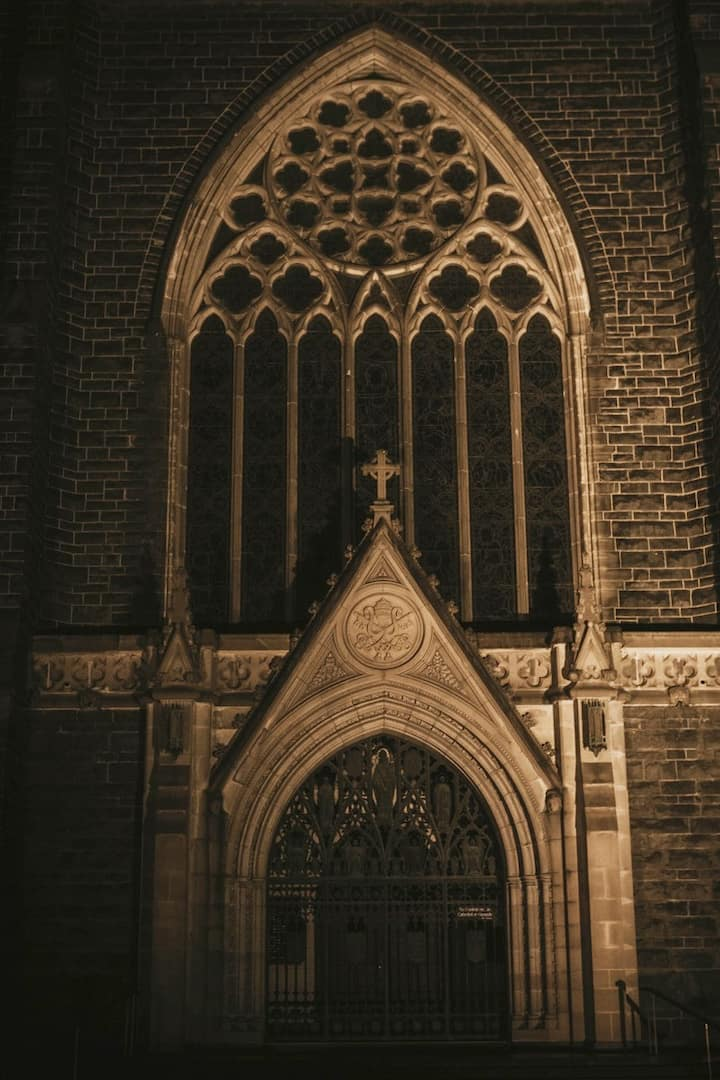 Darkened St Patrick's Cathedral