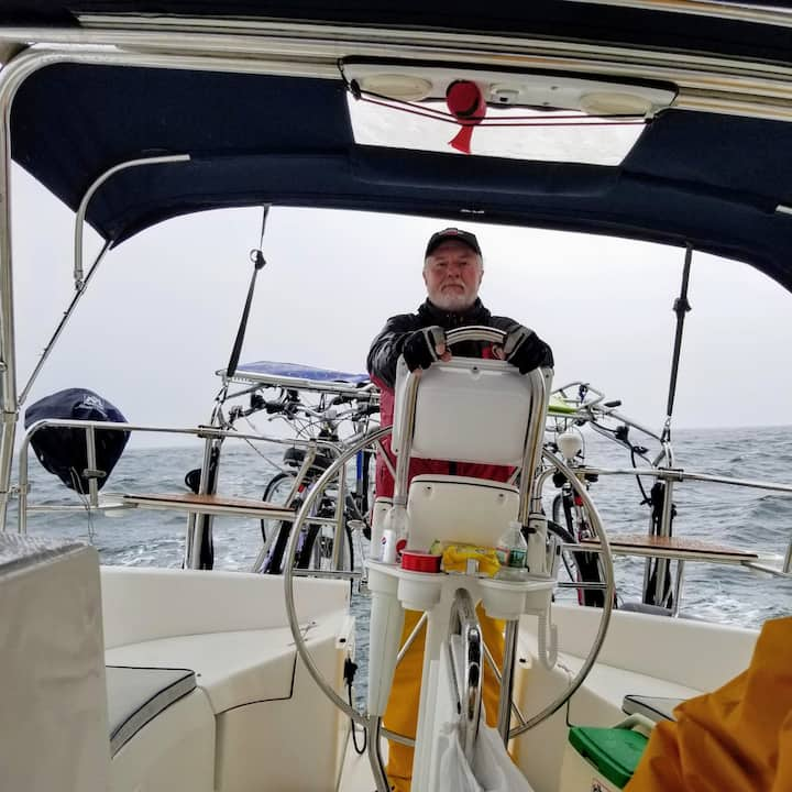 Capt. John at the helm