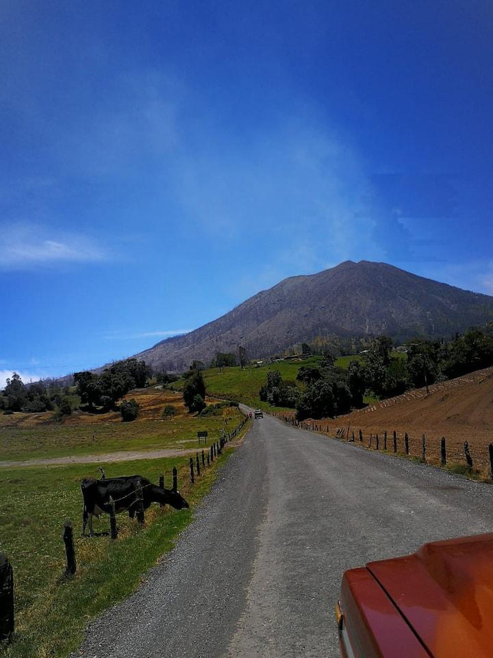 Driving towards Turrialba Volcano, amazing view!