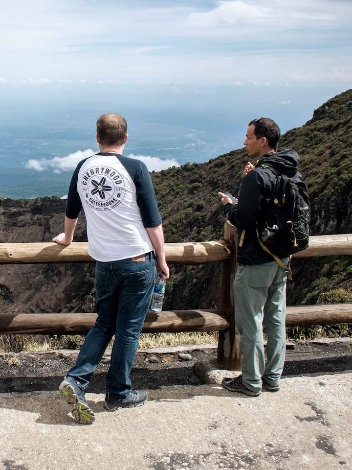 At the Irazu Volcano Peak