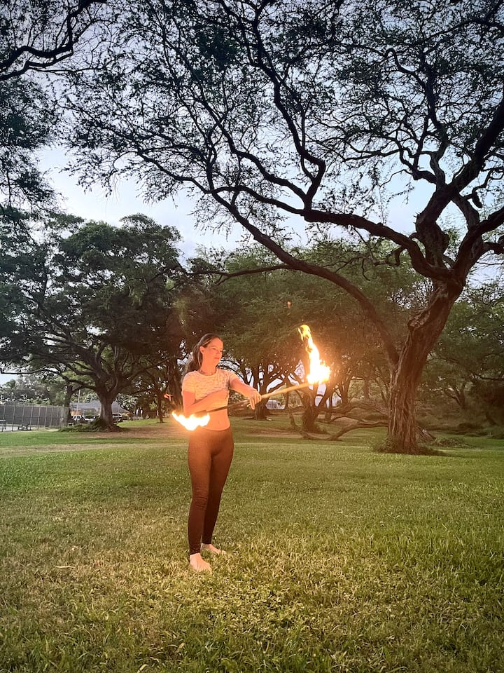 experience guest flowing with fire Staff