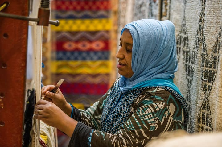 Hand Made Moroccan Rug