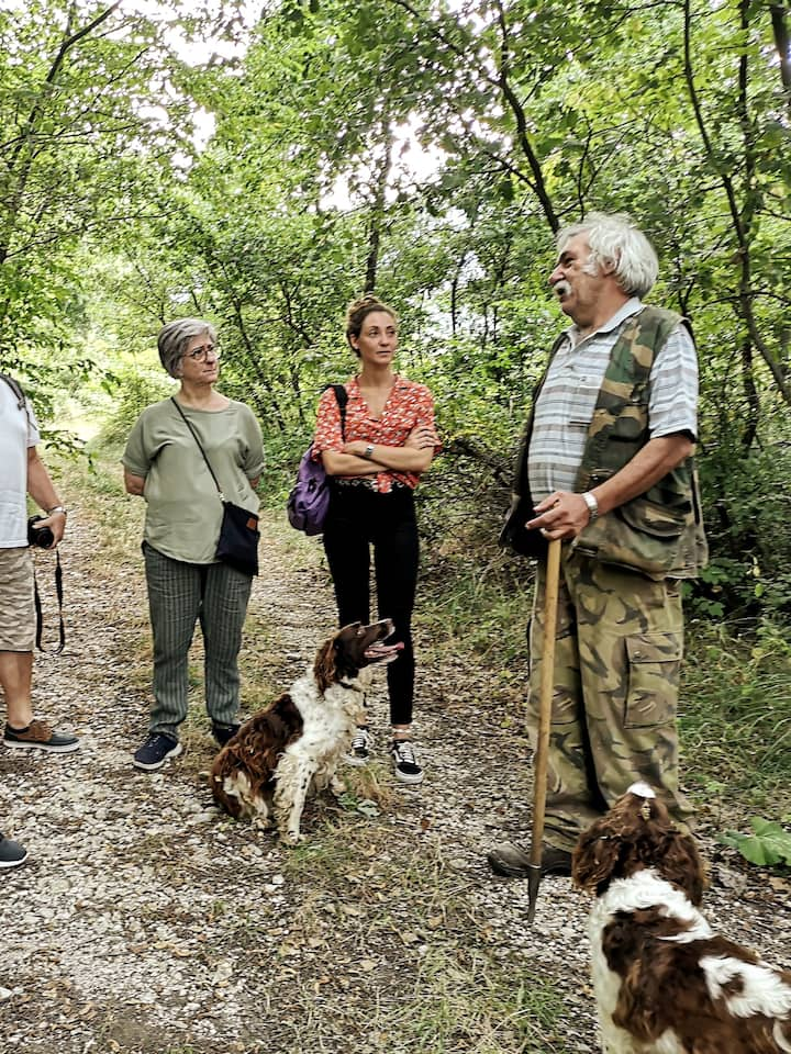 learning about truffles in Abruzzo