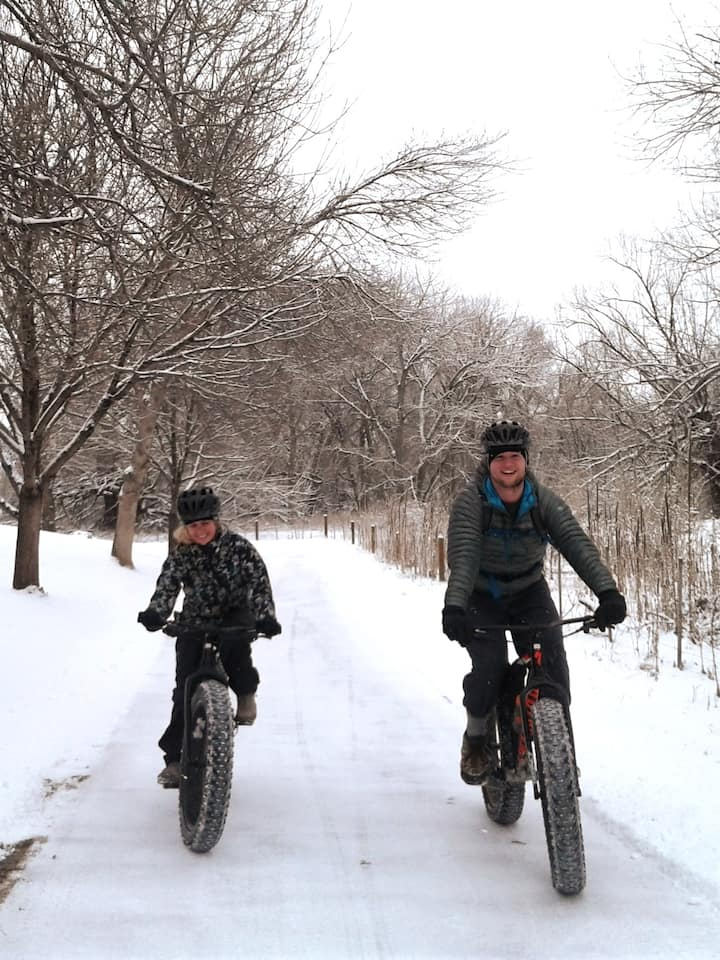 This is a fun way to try fat biking!