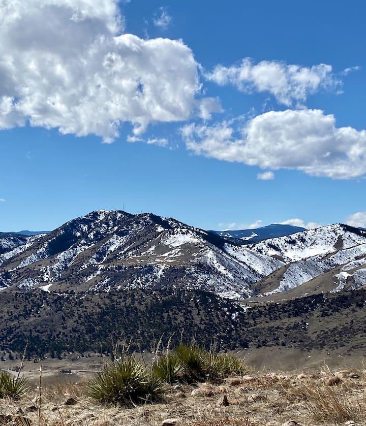 Stunning views, we can look through an app that identifies local peaks.