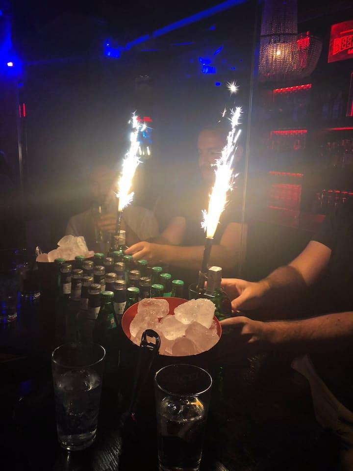 Memorable celebration inside the Nightclub.