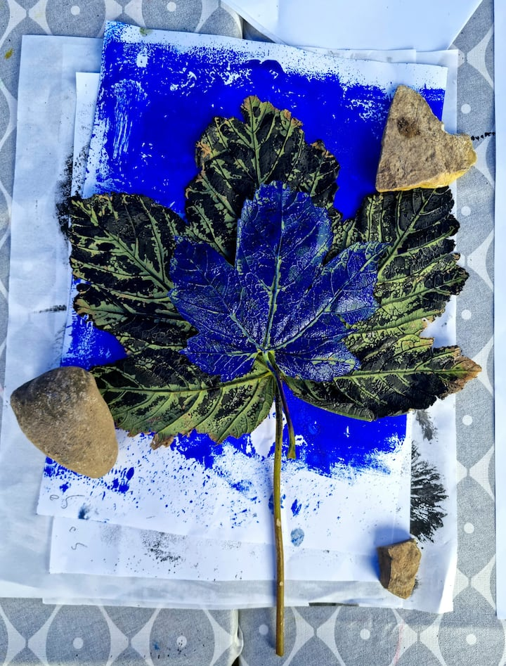 Printmaking with natural finds