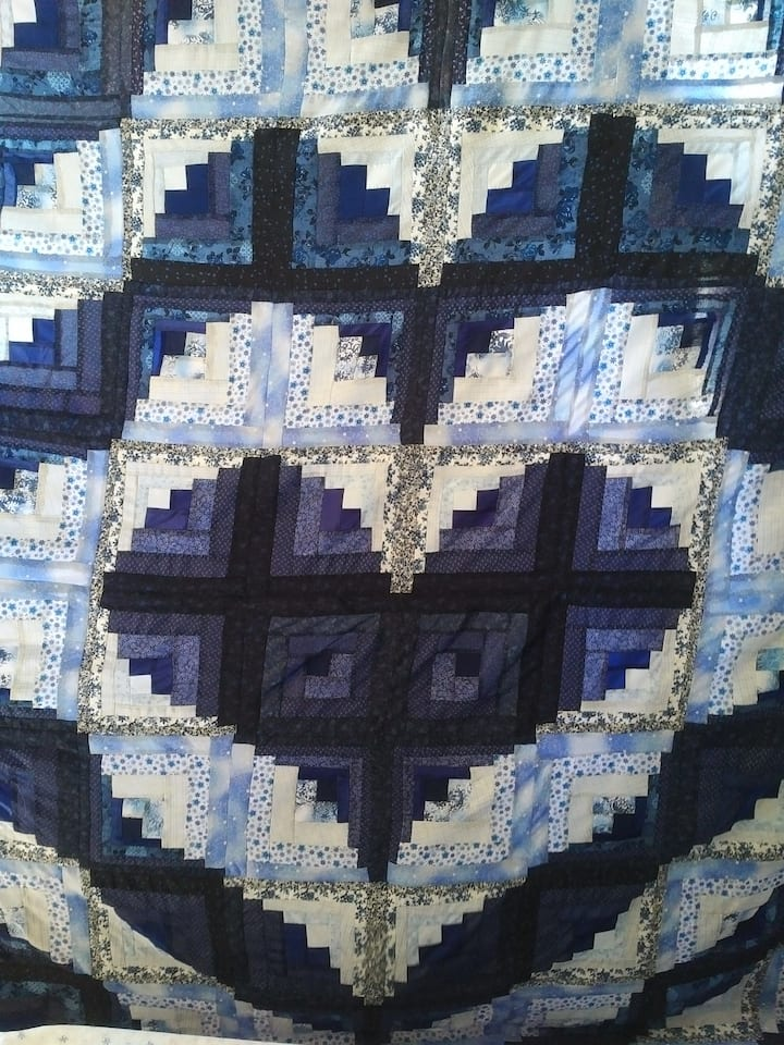 A handmade Mennonite quilt.