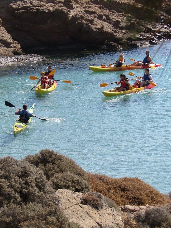 Some pre adventure, kayak coaching