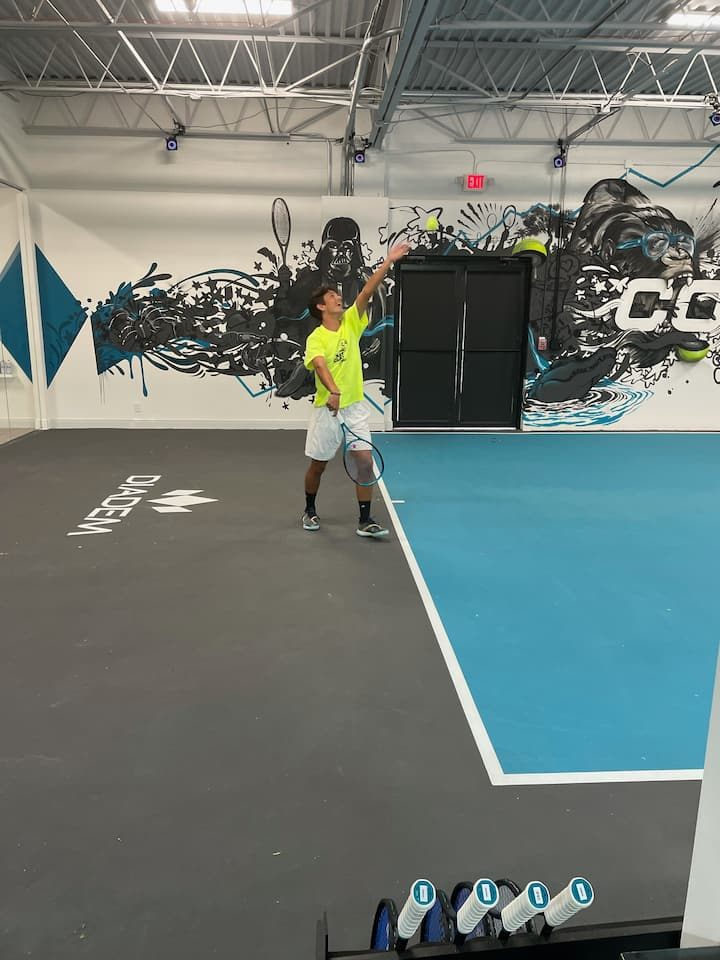 Check out the serve of our Diadem players using the Technology Center!
