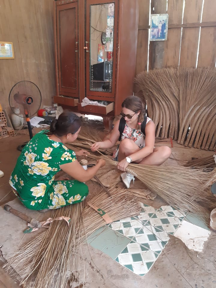 Experience  how to make local Handicraft
