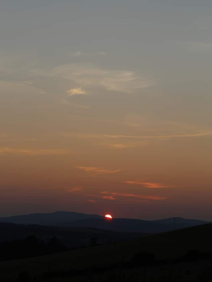 Sunset over Wicklow