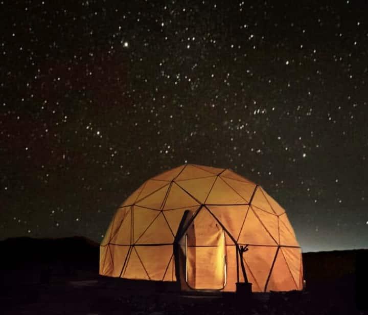 Dome desert camp
