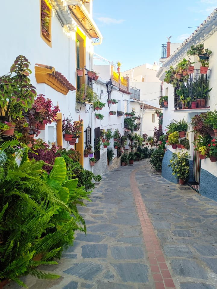 street in the white villaga