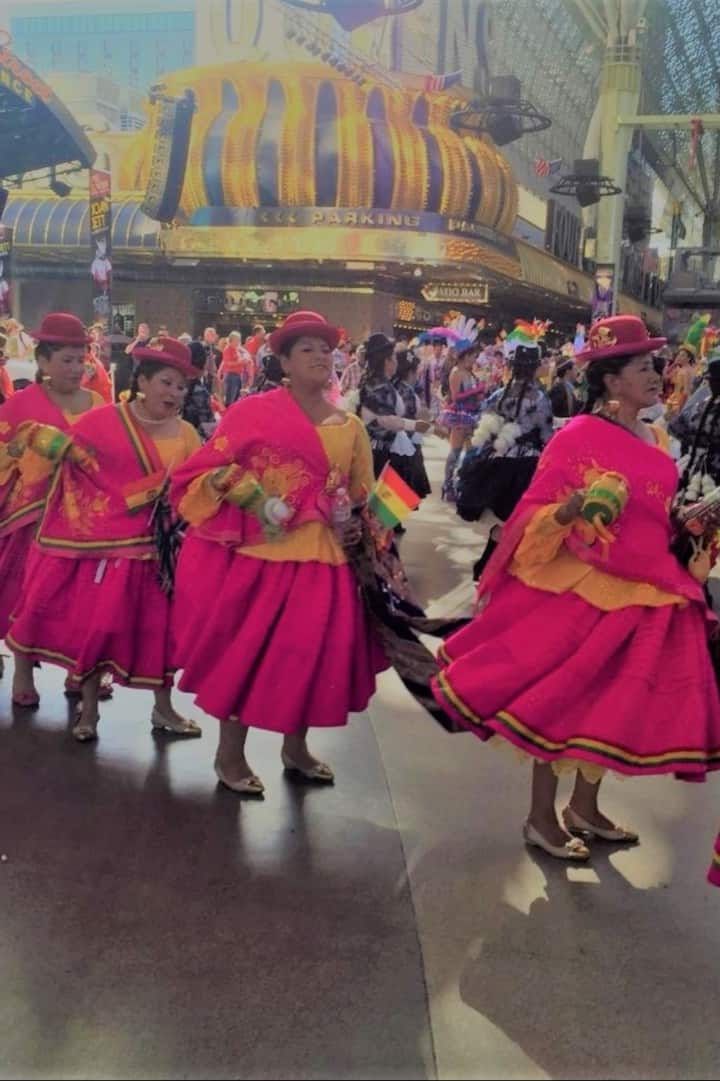 Peruvian Dancers on Fremont Street