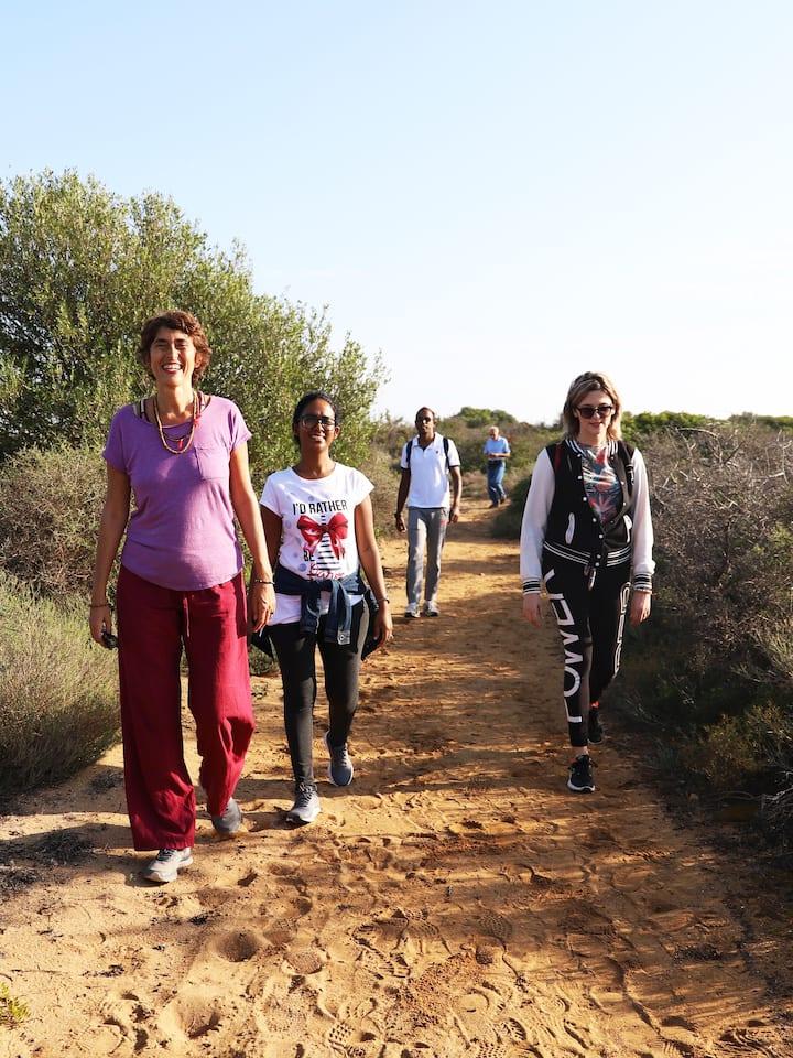 walking inside the Reserve