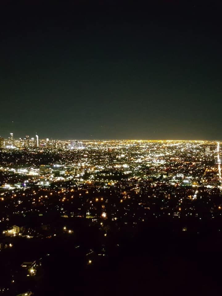 천문대에서 바라본 LA 야경
