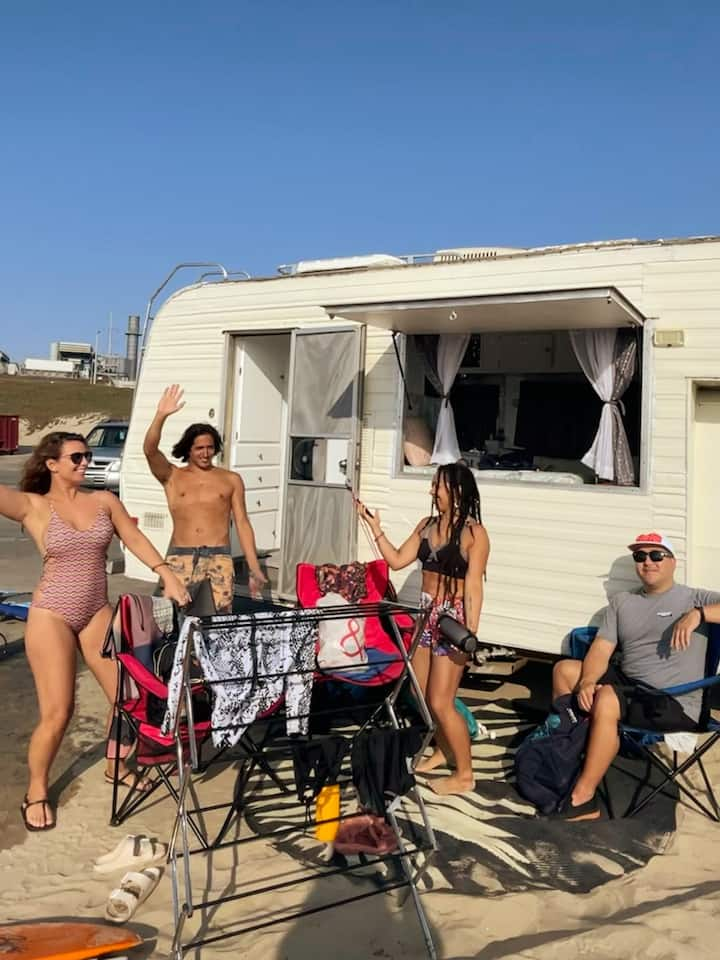 Dancing out our nerves before paddling out to catch some waves!