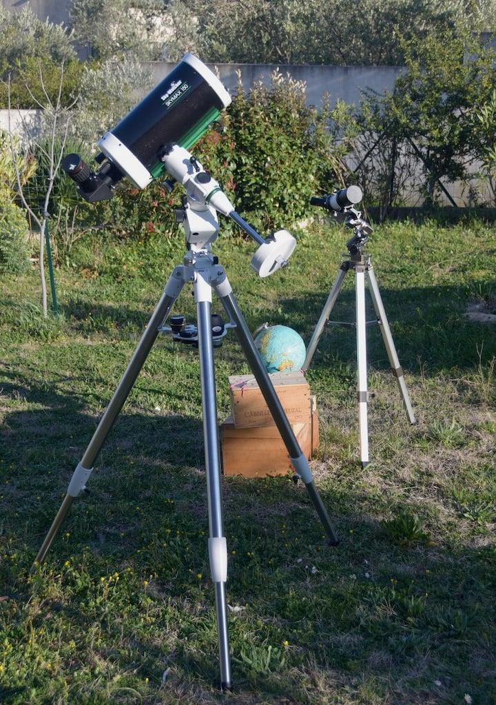 Le télescope et la lunette utilisés