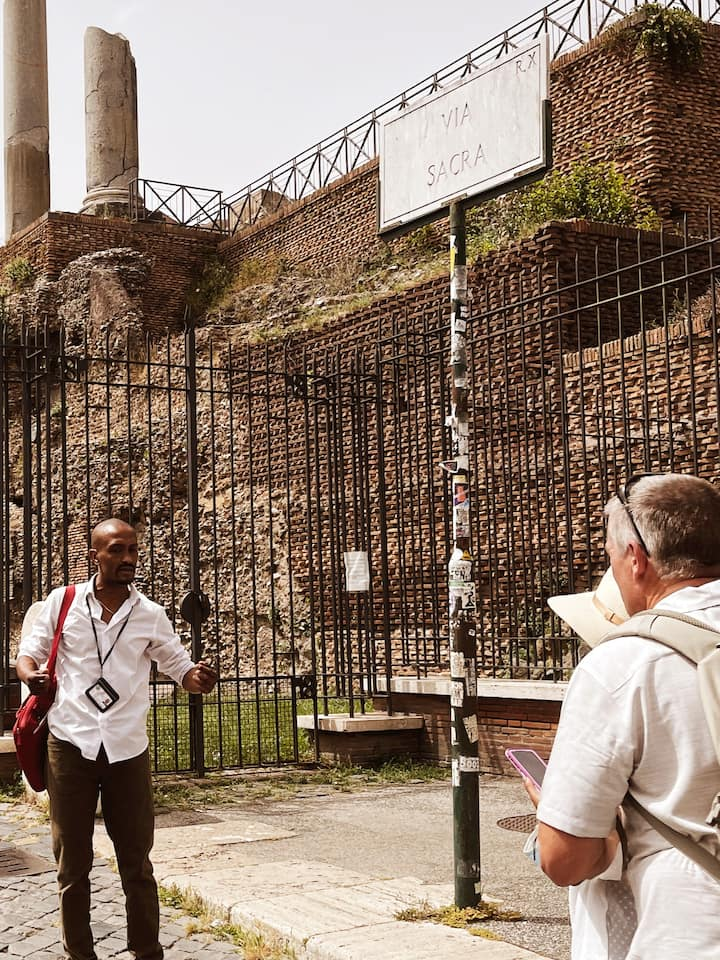 The Sacred Road or the Via Sacra (entrance to the Roman Forum)