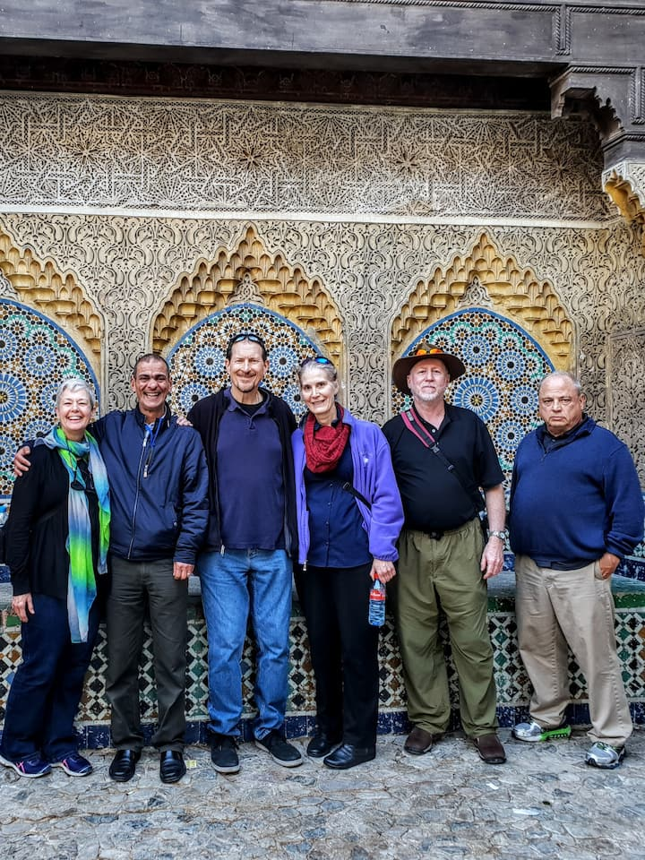 The moorish mosaïque in the kasbah