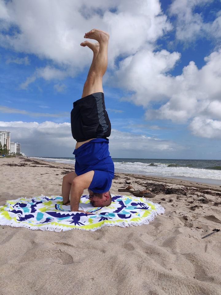 Circle yoga mats 4 social distance.