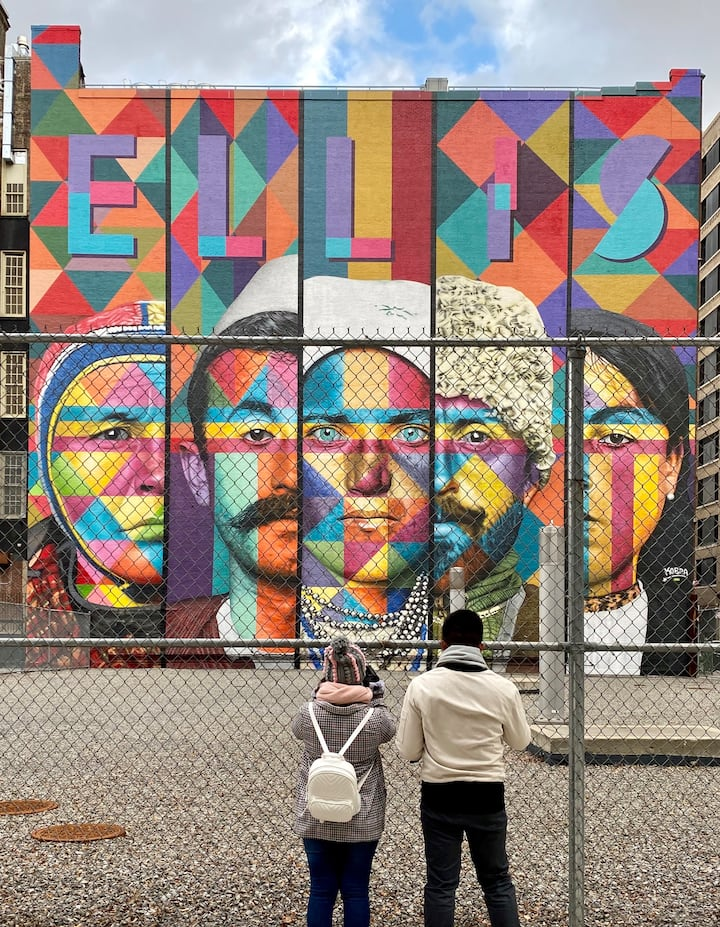 Biggest mural in New York City.