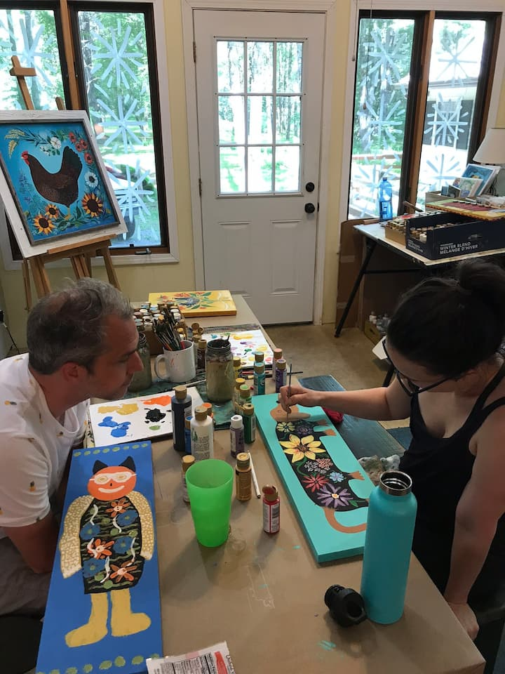 Make a Folk Art Painting is a great date