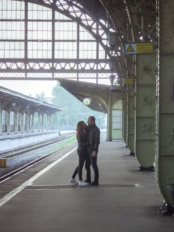 Guys at the Vitebsky railway station