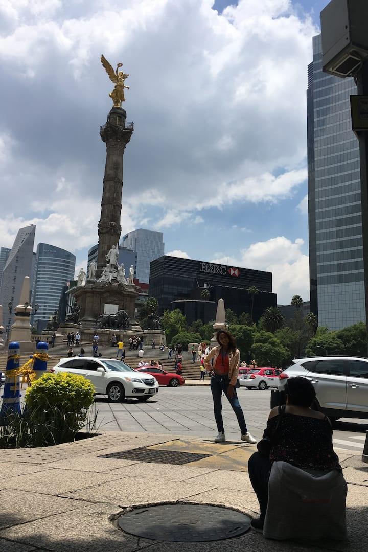 Riding on Mexico City's main avenue