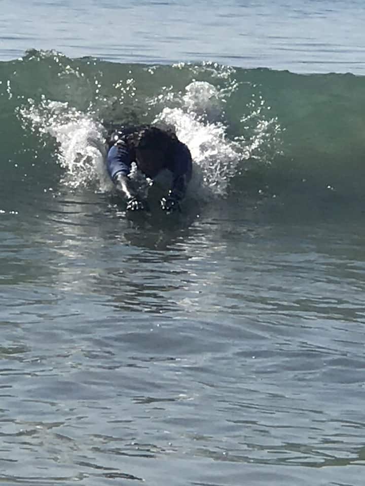 Learn to body surf....