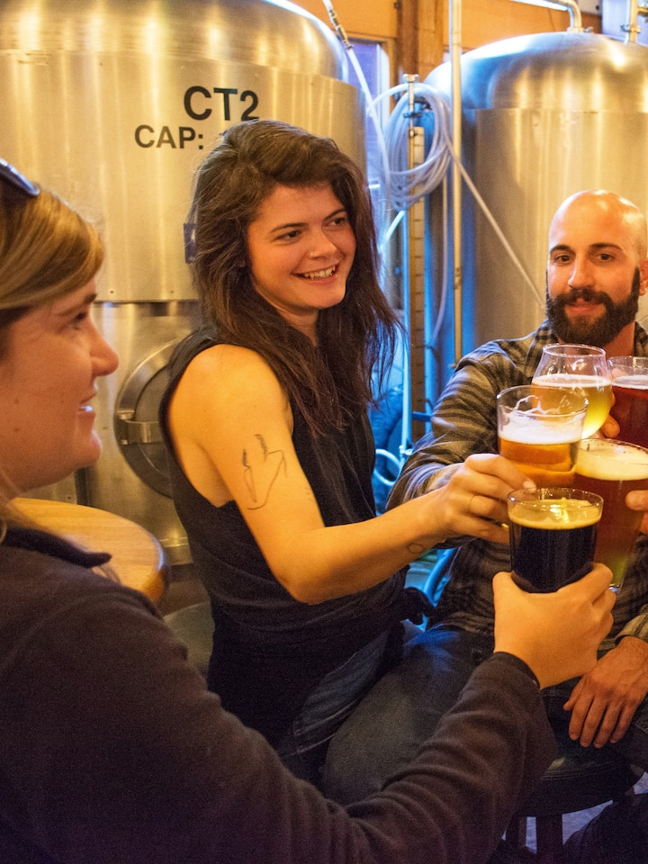Enjoy a beer in a brewery