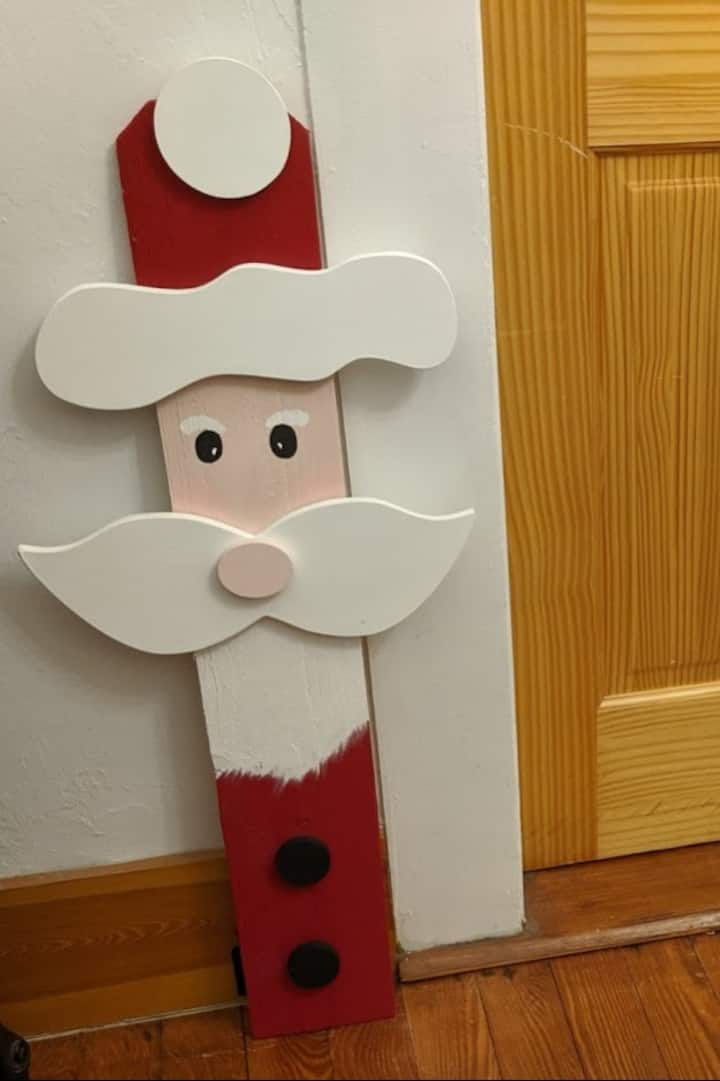 36 inch Santa  at door entrance.