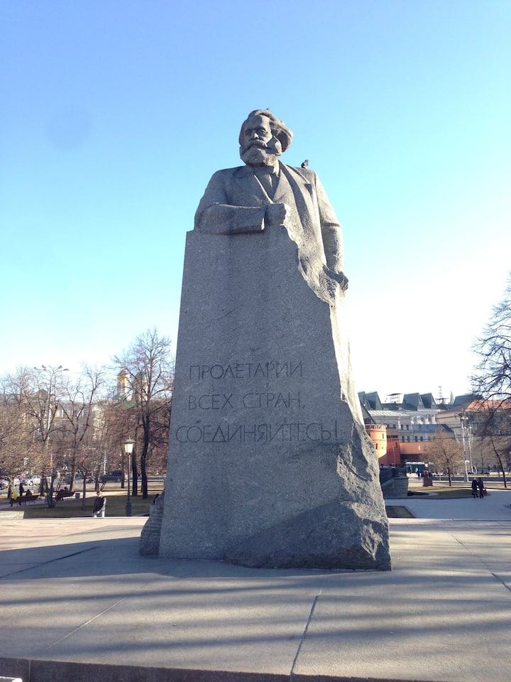 The meeting point is Karl Marx monument!