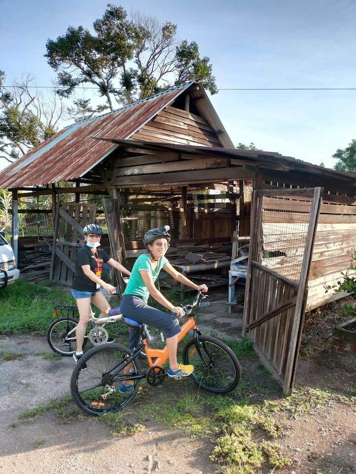 farm visit on the bike