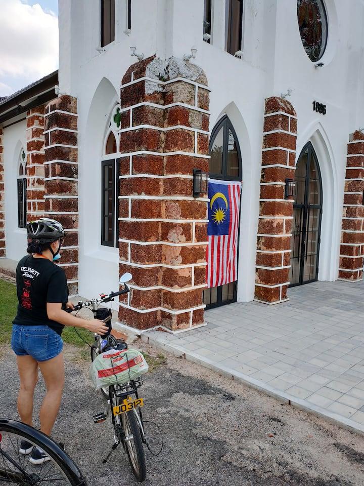 the red stone pillar church