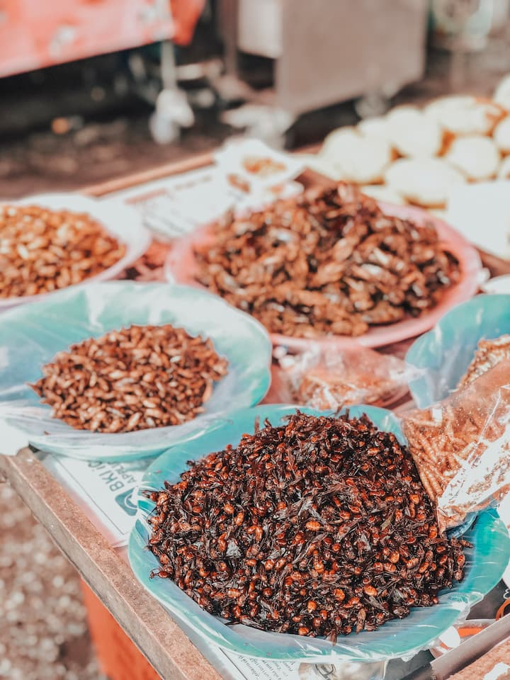 Snack Insect in local market