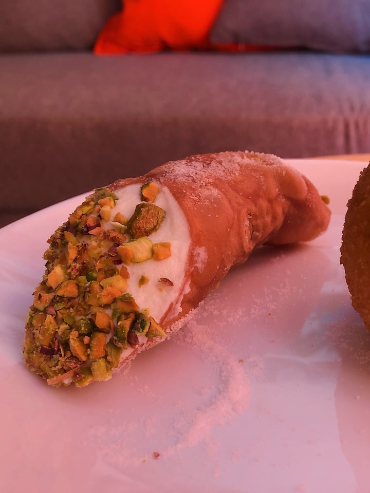 Typical Sicilian Cannolo