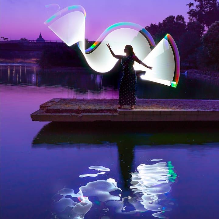 Light Painting at Eur lake Park