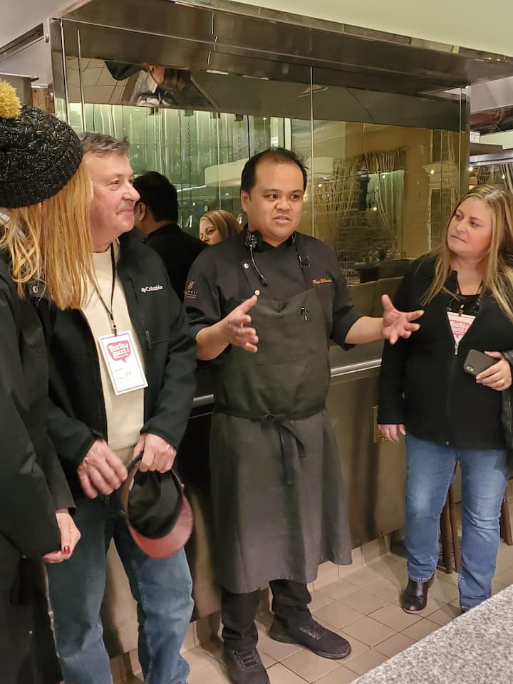 Meeting the chef
