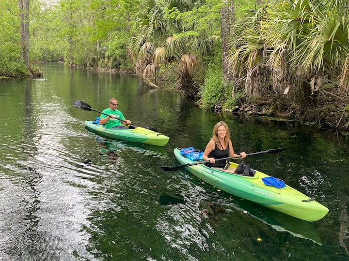 We have kayaks available for our tour