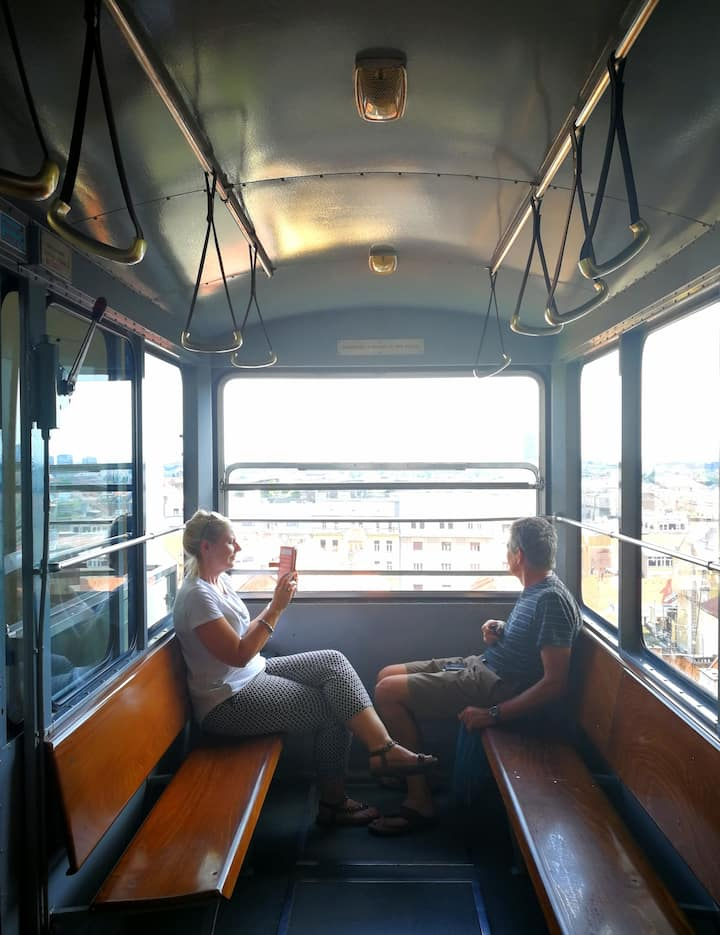 At the funicular