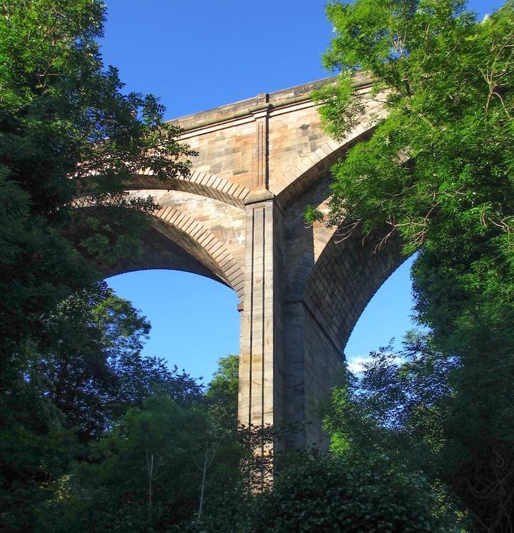 Take in the mass of 1830s Dean Bridge