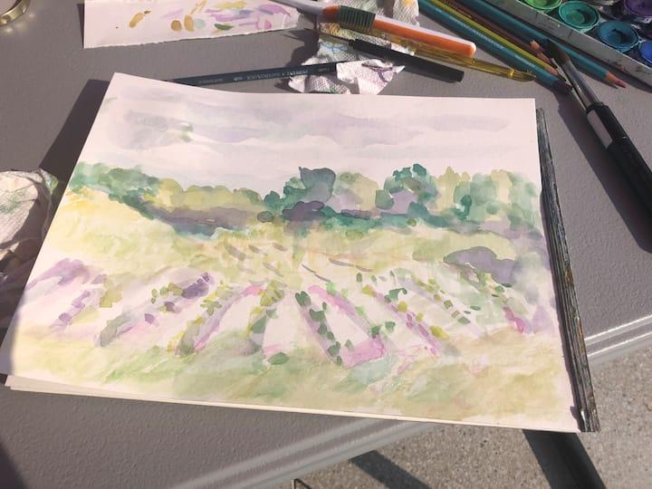 modales vineyard tasting and painting