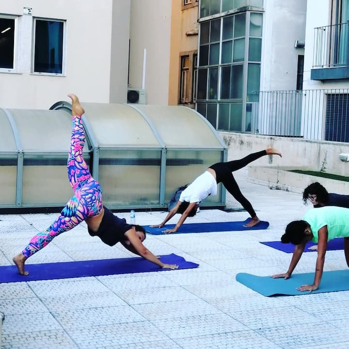 Yoga on a roof top