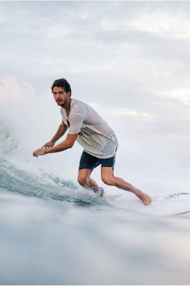 Juri catching some nice waves
