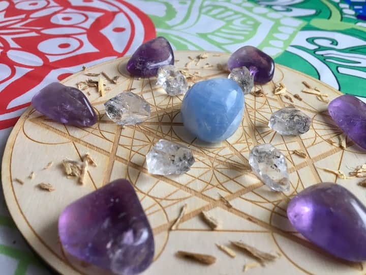 Example of crystal grid you will make.