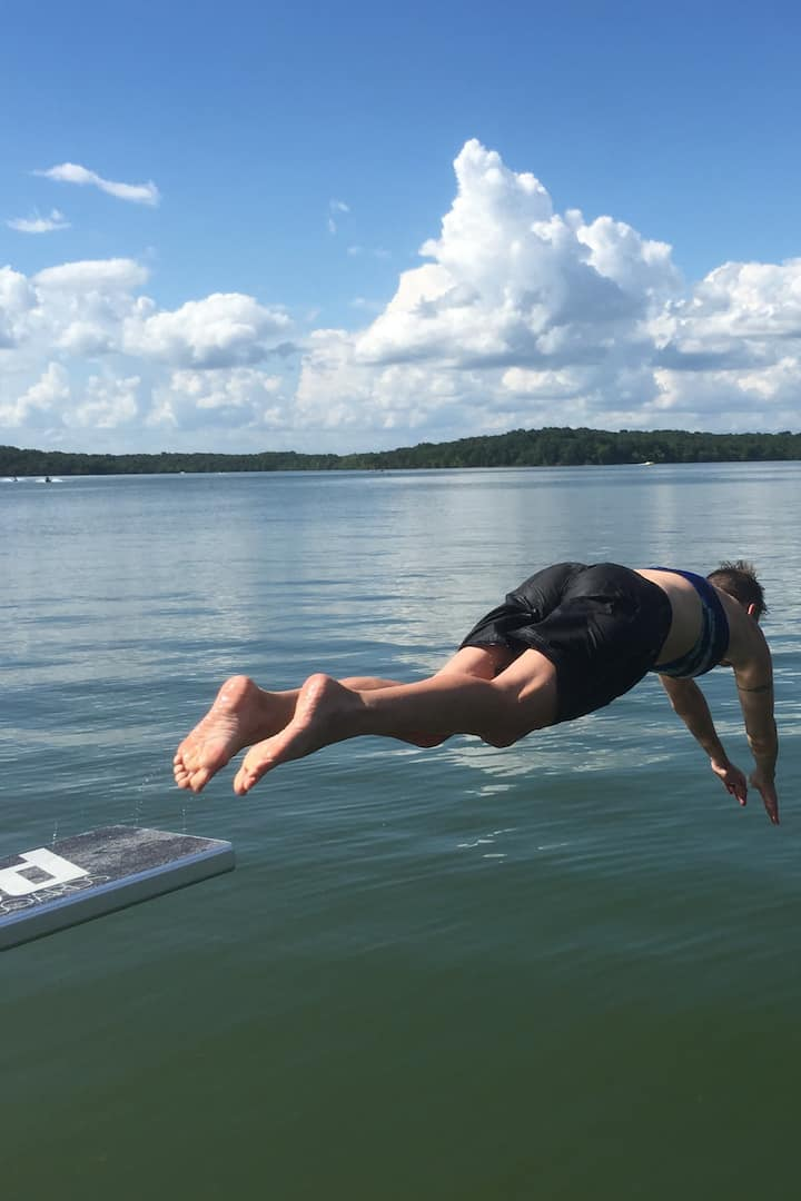 Diving off the Lilipad Diving Board!